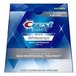 Crest 3D White Whitestrips Supreme Flexfit.